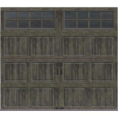 Gallery Collection 16 ft. x 7 ft. 18.4 R-Value Intellicore Insulated Ultra-Grain Slate Garage Door with SQ24 Window