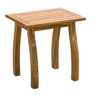 Lance Teak Square Wood Outdoor Accent Table