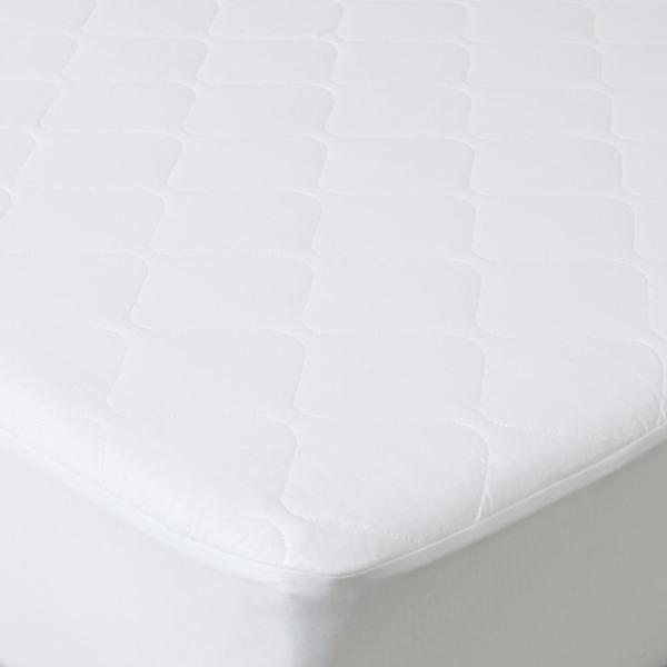 Bluestone-Twin 16 in. Down Alternative Cotton Mattress Pad with Fitted Skirt