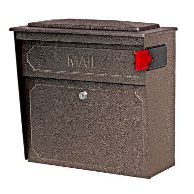 Townhouse Locking Wall-Mount Mailbox with High Security Reinforced Patented Locking System, Bronze