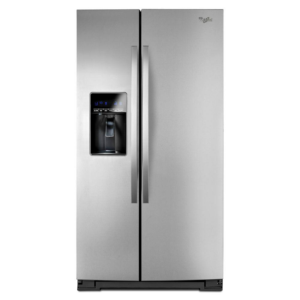 Whirlpool 26.5 cu. ft. Side by Side Refrigerator in Monochromatic Satina Steel-DISCONTINUED