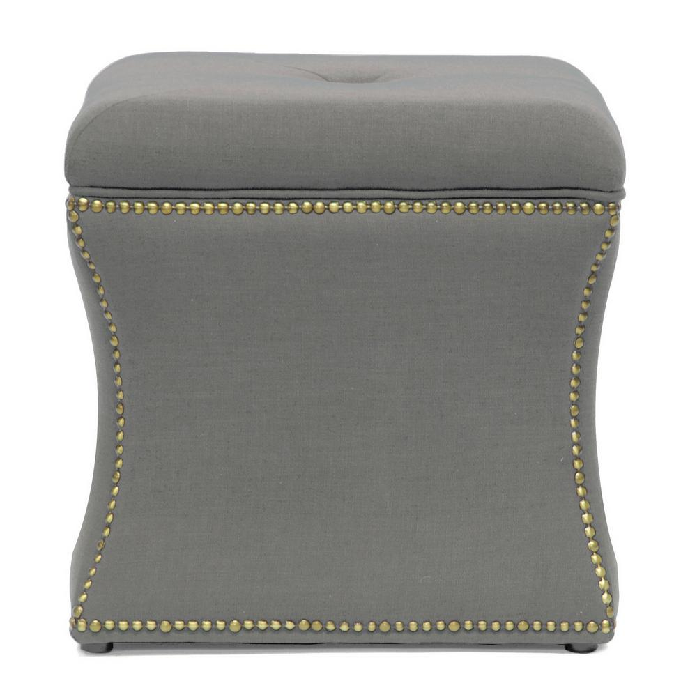 Shrewsbury Traditional Beige Fabric Upholstered Ottoman