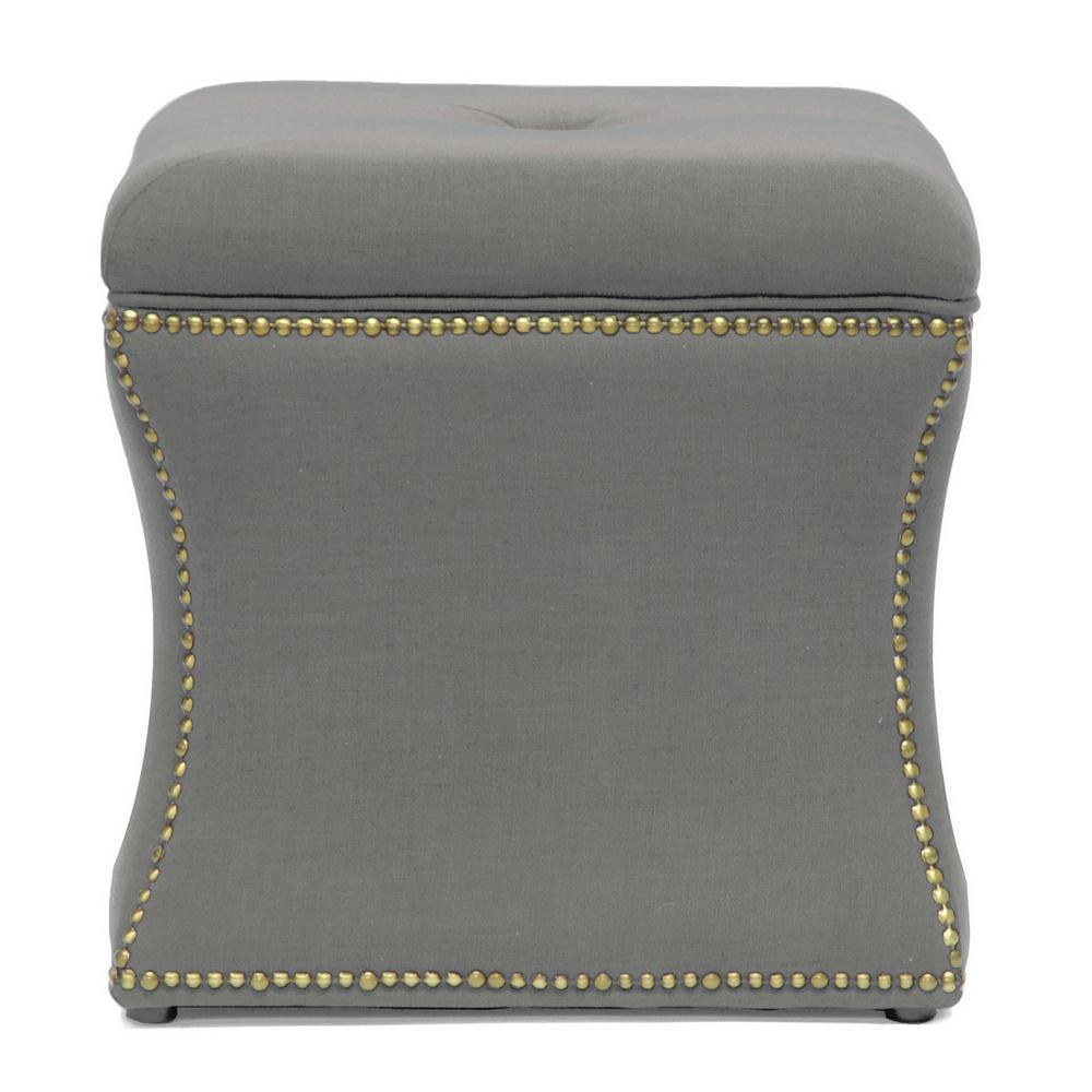 Shrewsbury Traditional Beige Fabric Upholstered Ottoman