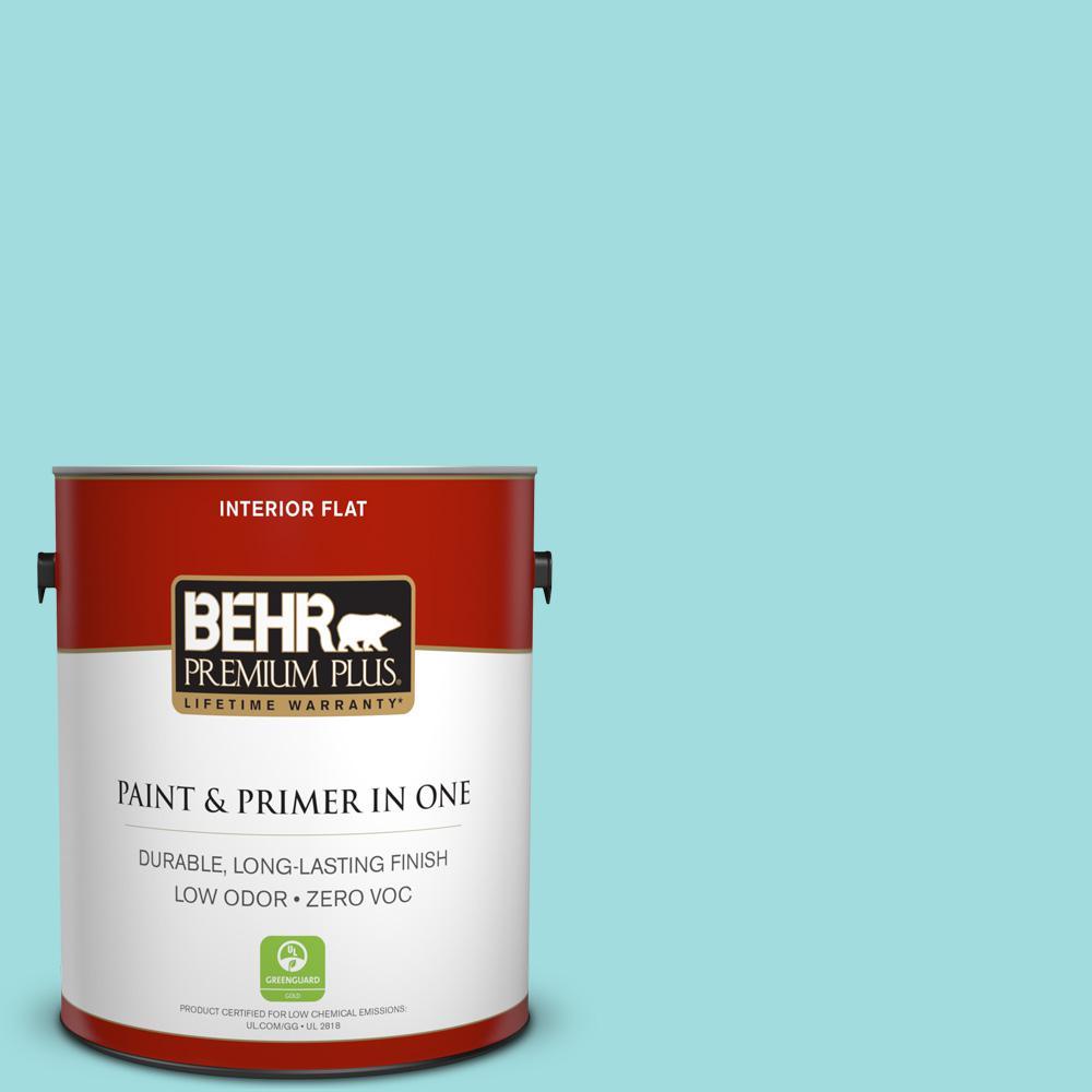 BEHR Premium Plus 1-gal. #500A-3 Aqua Spray Zero VOC Flat Interior Paint