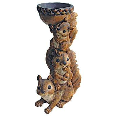 15 in. H 3 a Crowd Stacked Squirrel Garden Statue