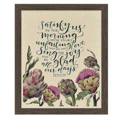 "GraceLaced ""Satisfy Us"" by GraceLaced for Carpentree Printed Framed Natural Canvas Wall Art"