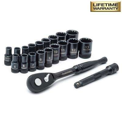 1/4 in. Drive 100-Position Universal SAE and Metric Socket Wrench Set (20-Piece)