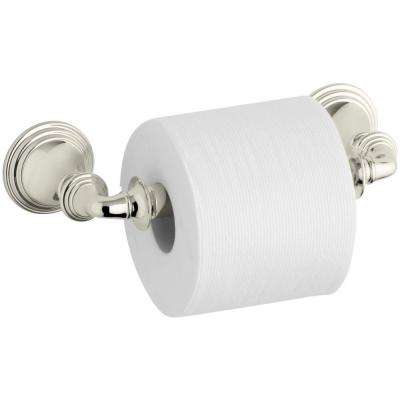 Devonshire Double Post Toilet Paper Holder in Vibrant Polished Nickel