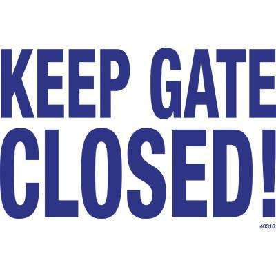 Sign for a Residential or Commercial Swimming Pool, Keep Gate Closed