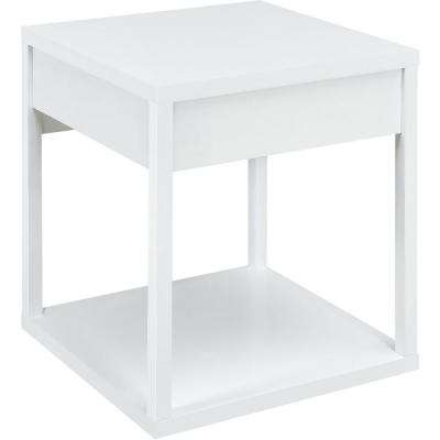 Nelson White End Table