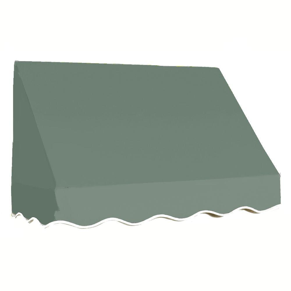 AWNTECH 40 ft. San Francisco Window Awning (44 in. H x 24 in. D) in Olive