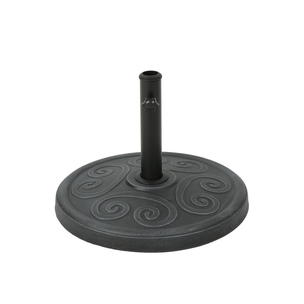 Harvey 36.46 lbs. Concrete Patio Umbrella Base in Hammered Iron