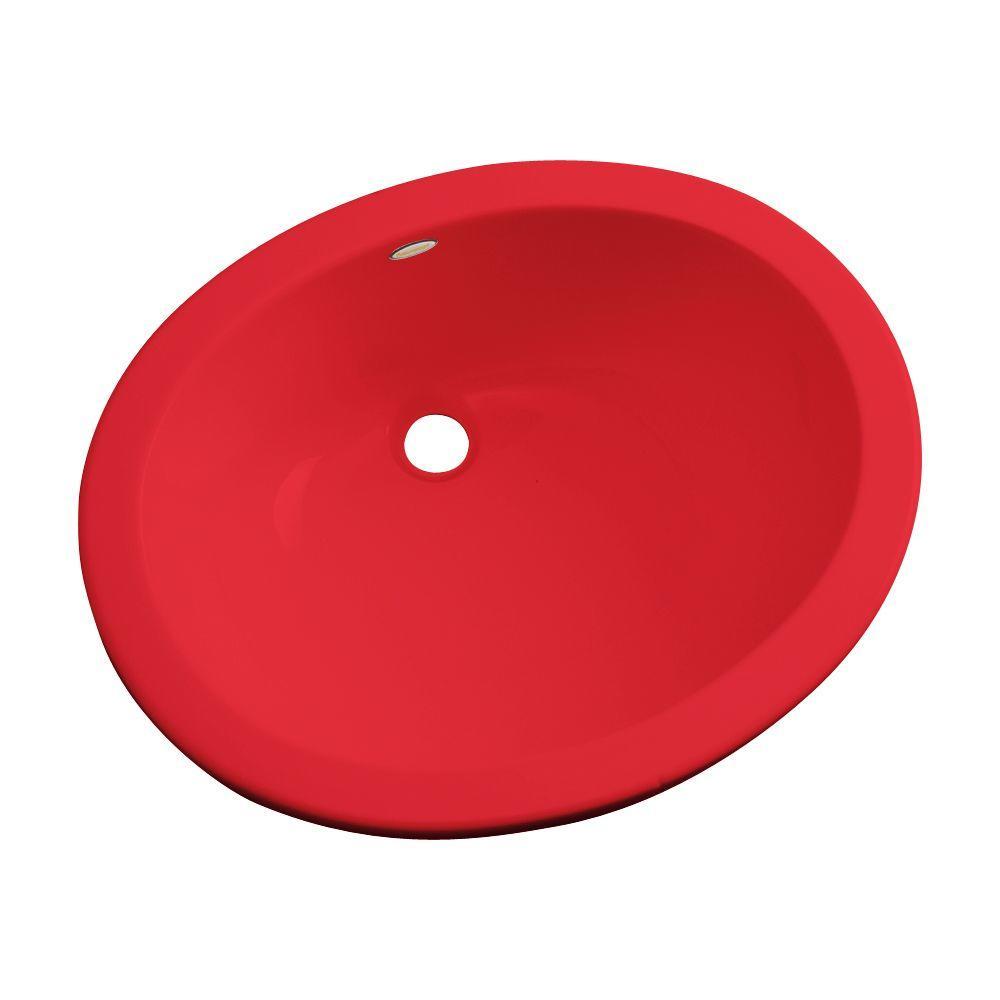 Thermocast Montera Undermount Bathroom Sink in Red