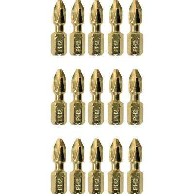 Impact GOLD #2 Philips Steel Insert Bit (15-Piece)