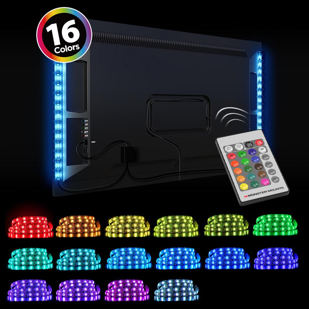 Monster Mounts TV LED Backlight Kit