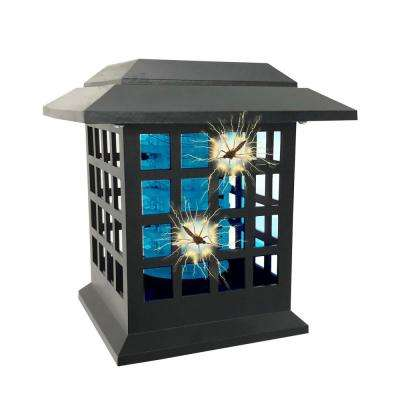 Solar Powered Cordless Dual Lighting Modes Bug Zapper (2-Stakes)