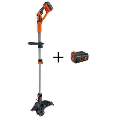 13 in. 40-Volt MAX Lithium-Ion Electric Cordless 2-in-1 String Grass Trimmer/Lawn Edger with Bonus 2.0Ah Battery