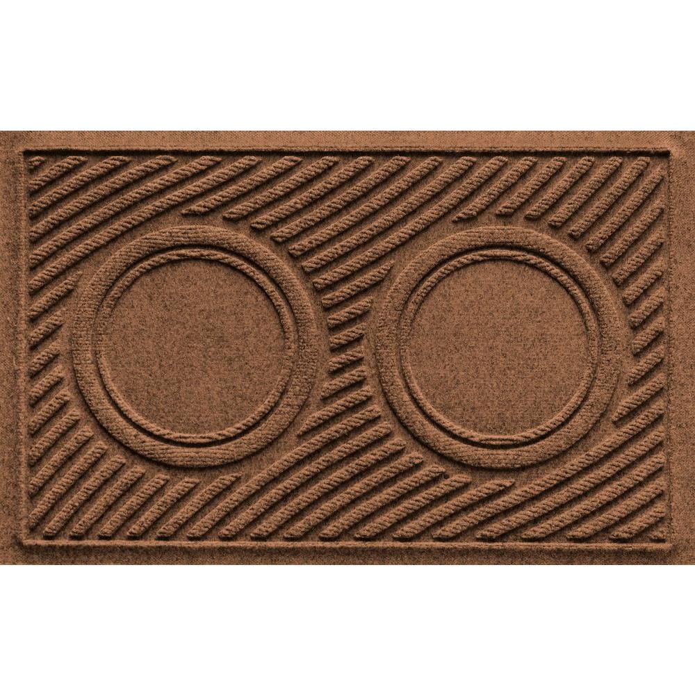 Aqua Shield Dark Brown 18 in. x 28 in. Dog Bowl Wave Pet Mat