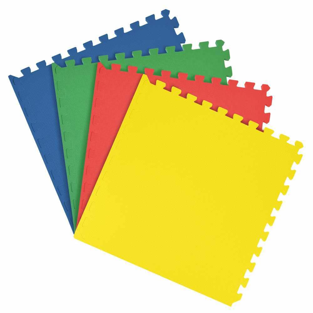 Multicolored 24 in. x 24 in. Interlocking Anti Fatigue Foam Tiles