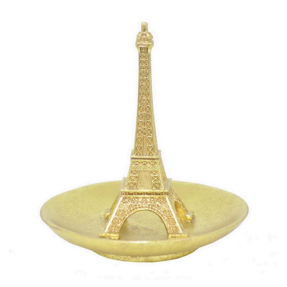 6 in. Eiffel Tower Resin Ring Holder