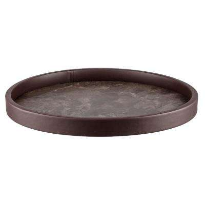 Tunisia Stone Vinyl 14 in. Round Serving Tray