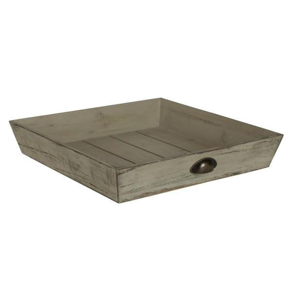 Kate and Laurel Woodmont Gray Decorative Tray 211932