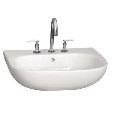 Caroline 550 21-3/4 in. Wall Hung Sink in White