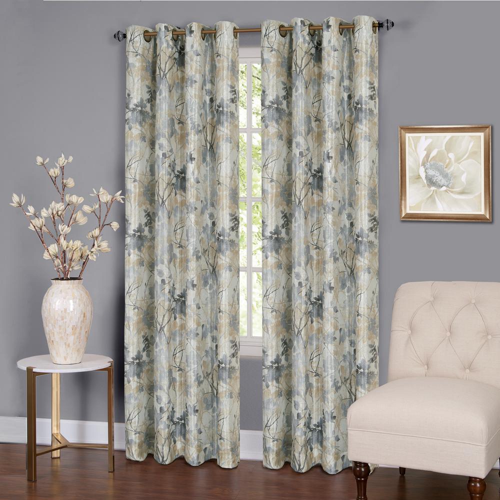 Achim Tranquil 84 In L Grommet Window Curtain Panel In