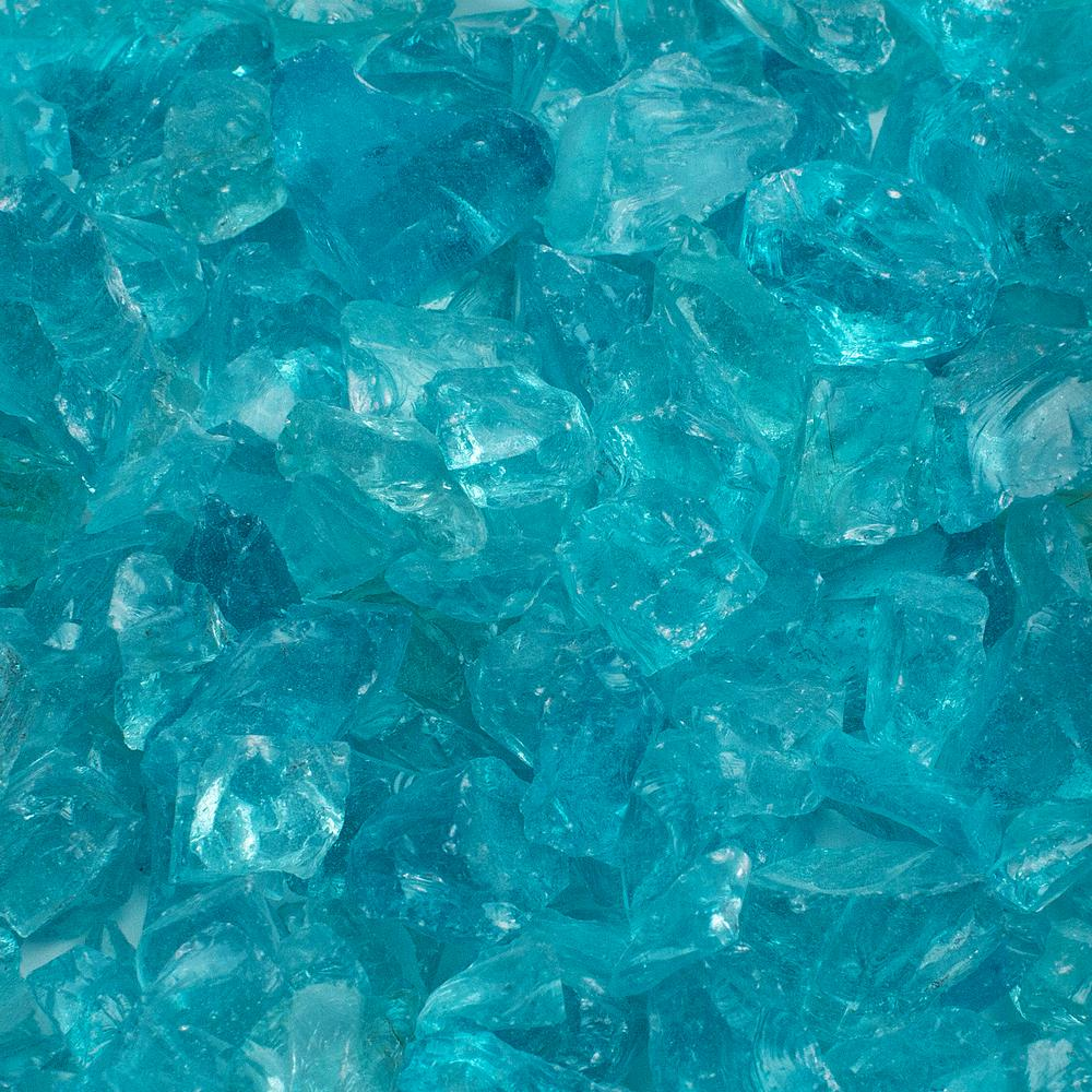 1/2 in. 10 lb. Medium Caribbean Blue Landscape Fire Glass