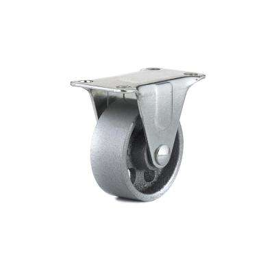 1-31/32 in. Metal Fixed plate Caster, 125.7 lb. Load Rating