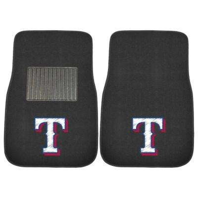 MLB - Texas Rangers 17 in. x 25.5 in. 2-Piece Set of Embroidered Car Mats