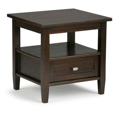 Warm Shaker Tobacco Brown Storage End Table