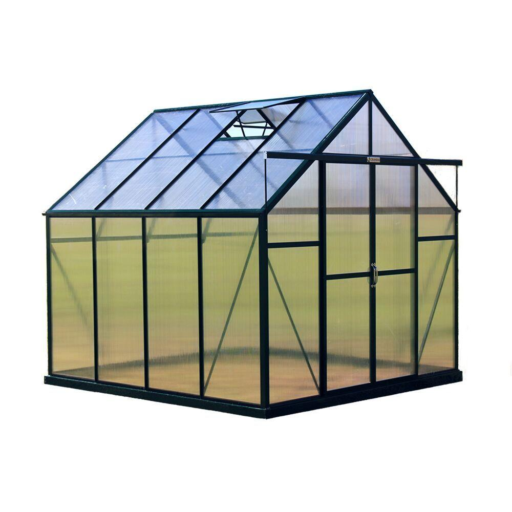 Grandio Greenhouses Ascent 8 ft. W x 8 ft. D x 8 ft. H Heavy-Duty Aluminum Greenhouse Kit
