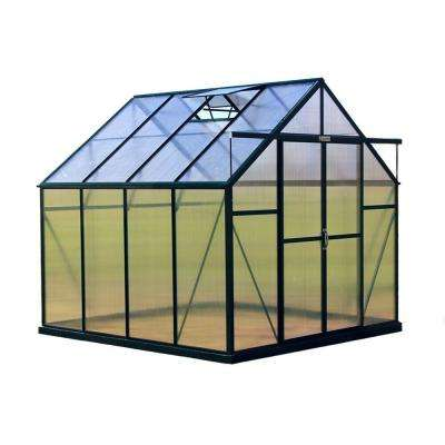 Ascent 8 ft. W x 8 ft. D x 8 ft. H Heavy-Duty Aluminum Greenhouse Kit