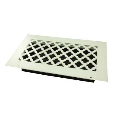 Tuscan 12 in. x 6 in. Wall or Ceiling Register, White/Powder Coat with Opposed Blade Damper