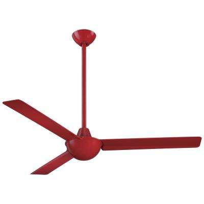 Kewl 52 in. Indoor Red Ceiling Fan with Wall Control