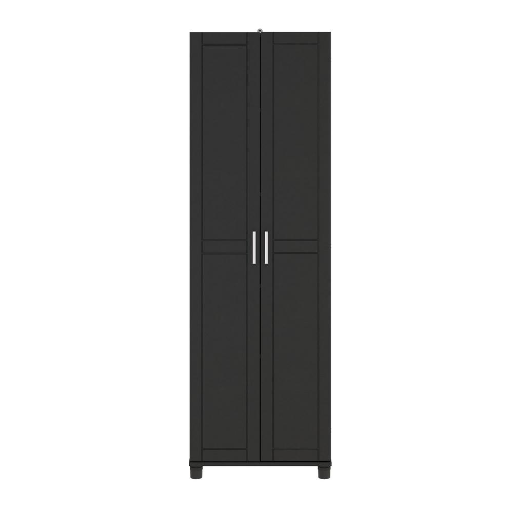 Pleasing Ameriwood Home Kai 75 In H X 24 In W X 15 39 In D Freestanding Utility Storage Cabinet In Black Interior Design Ideas Ghosoteloinfo