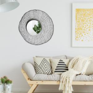Pinnacle Silver Wire Nest Round Wall Accent Mirror 1805-3791 ...