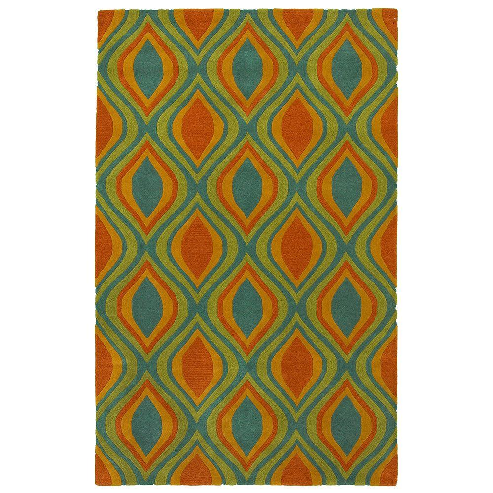 LR Resources Vibrance Blue 5 ft. x 7 ft. 9 in. Contemporary Indoor Area Rug