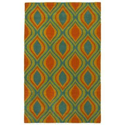 Vibrance Blue 5 ft. x 7 ft. 9 in. Contemporary Indoor Area Rug