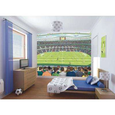 120 in. H x 96 in. W Football Crazy Wall Mural