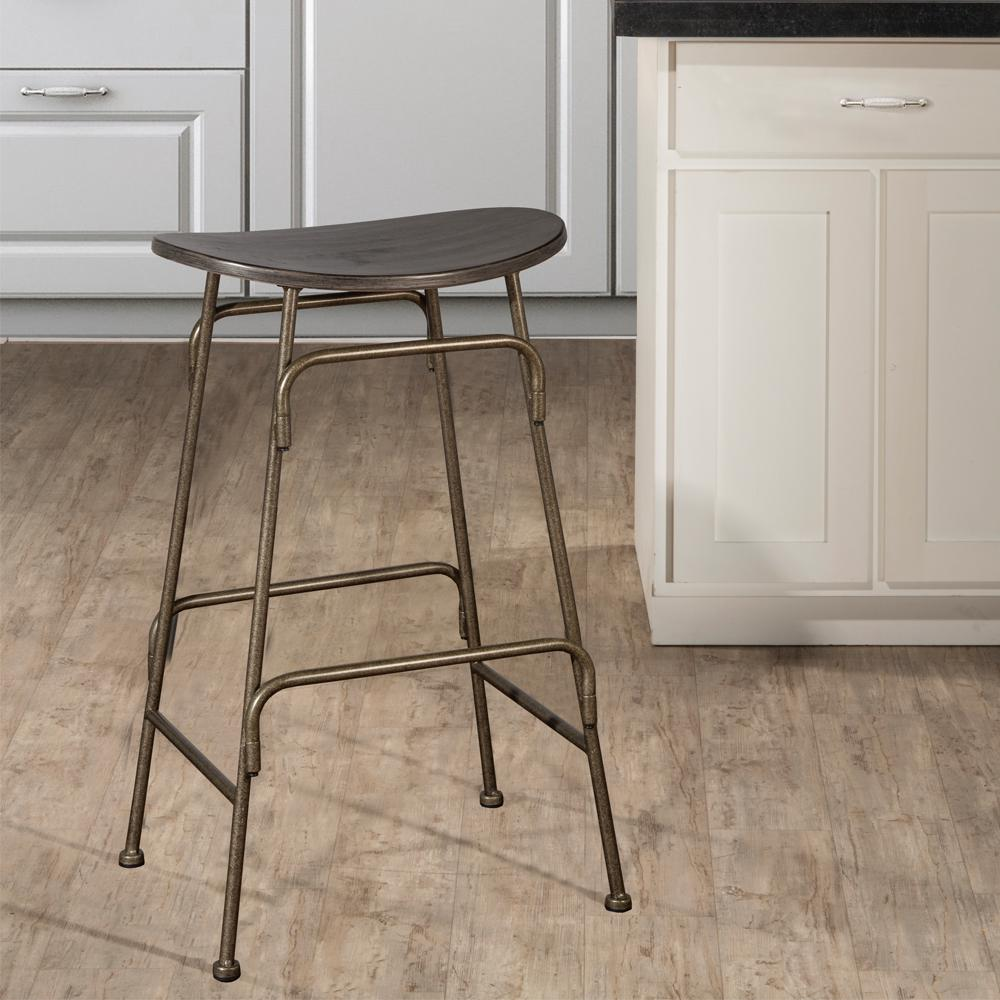 Hillsdale Furniture Mitchell 26 5 In Black Swivel Bar Stool 4032 827 The Home Depot