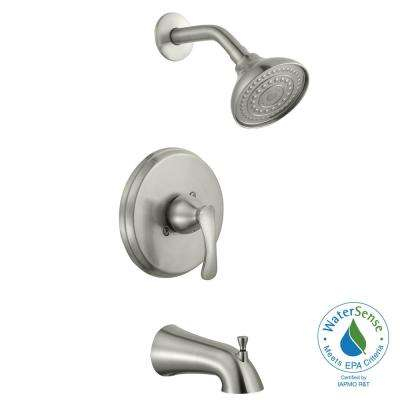 Edgewood Single-Handle 1-Spray Tub and Shower Faucet in Brushed Nickel