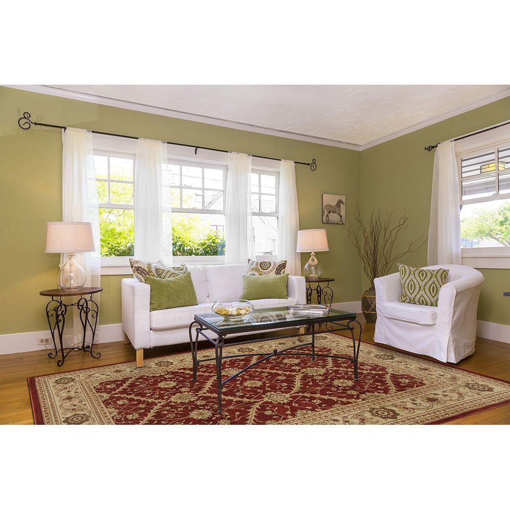 Home Dynamix Monroe Red/Cream 7 ft. 10 in. x 10 ft. 2 in. Indoor Area Rug