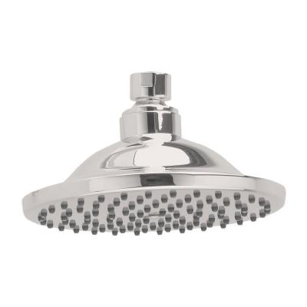 1-Spray 6 in. Single Ceiling Mount Fixed Rain Shower Head in Brushed Nickel
