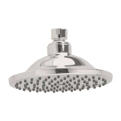 1-Spray 6 in. Fixed Showerhead in Brushed Nickel