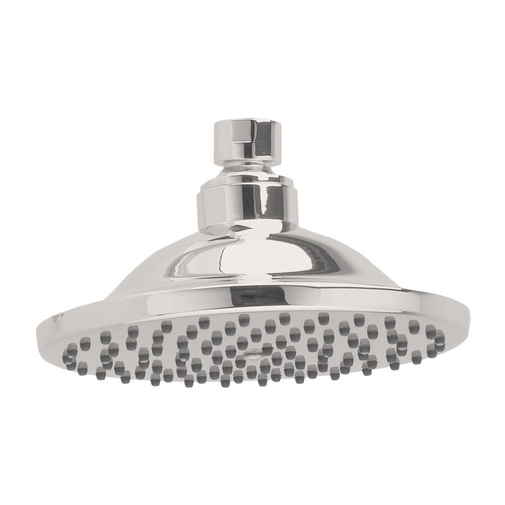 1-Spray 6 in. Fixed Shower Head in Brushed Nickel