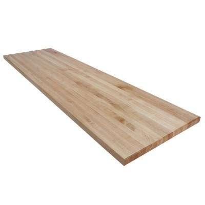 8 ft. L x 2 ft. D x 1.75 in. T Butcher Block Countertop in Finished Maple