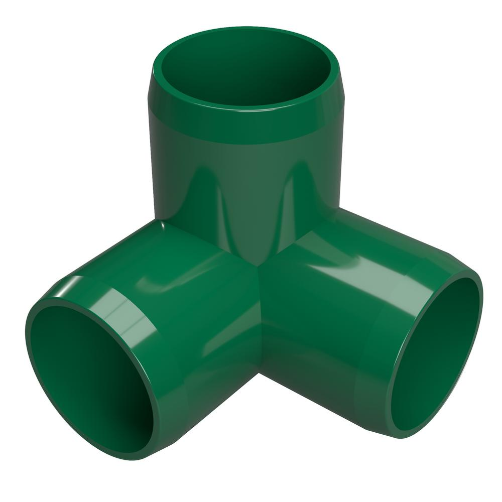 Formufit 1/2 in. Furniture Grade PVC 3-Way Elbow in Green (10-Pack)