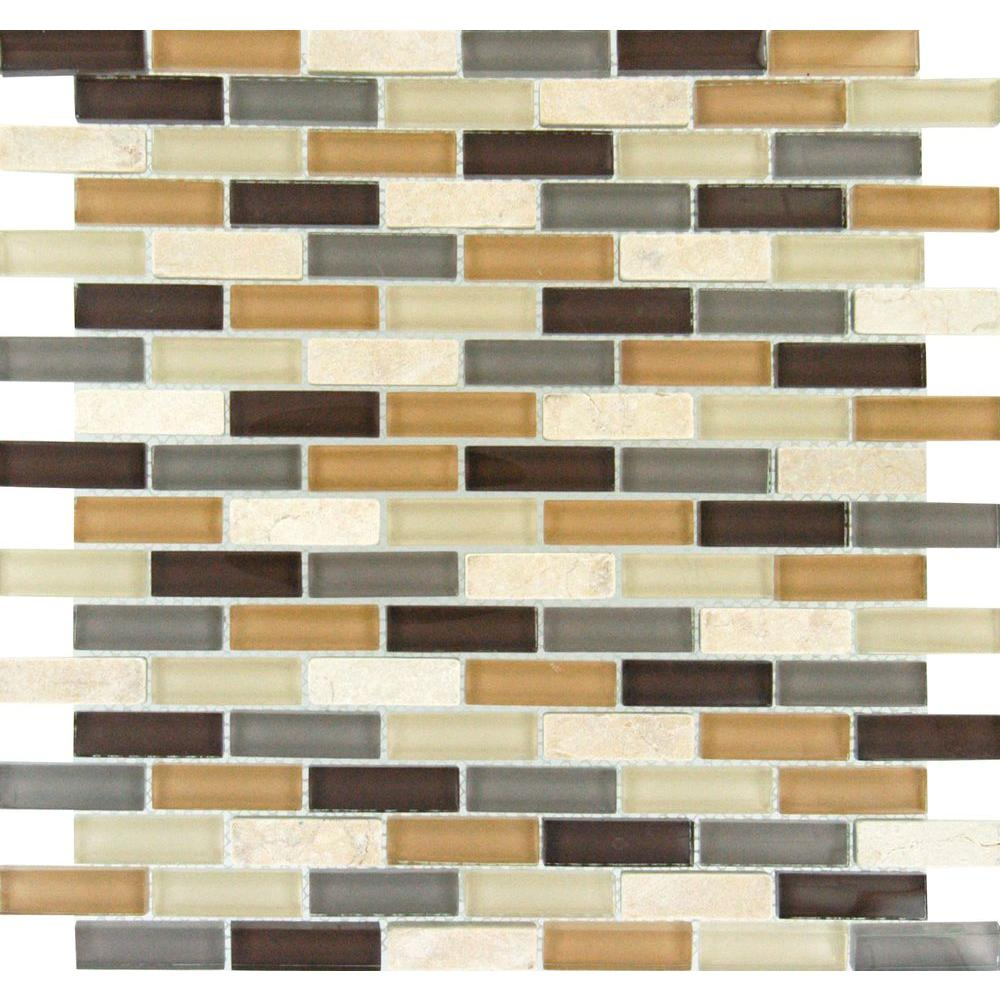 Msi Luxor Valley Brick 12 In X 8 Mm Gl Stone Mesh